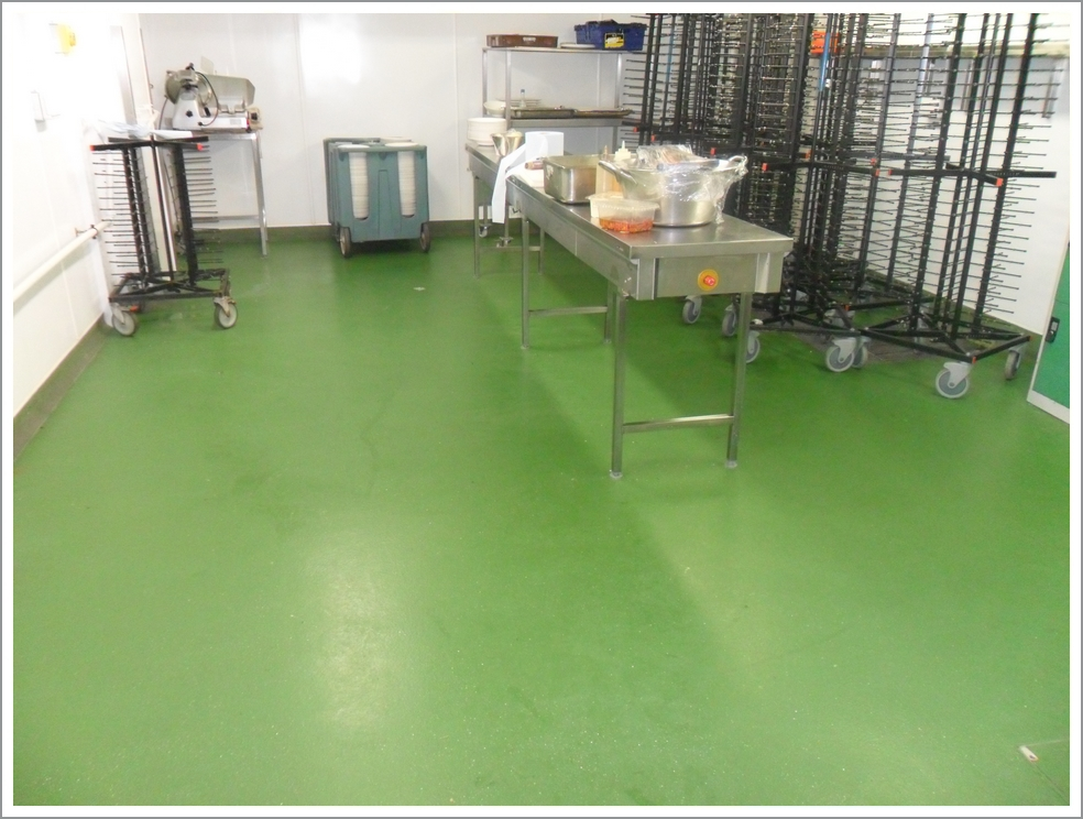 Food preparation flooring
